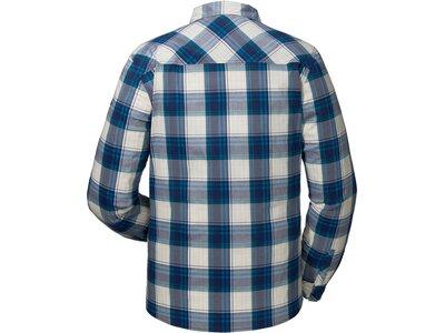 SCHÖFFEL Herren Wanderhemd Shirt Antwerpen Langarm Blau