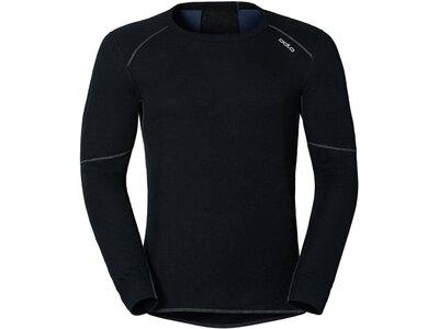 ODLO Herren Unterhemd SHIRT L/S CREW NECK X-WARM Schwarz