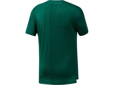 REEBOK Herren Trainingsshirt Kurzarm Grün