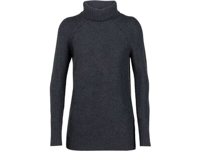 "ICEBREAKER Damen Pullover ""Waypoint Roll Neck Sweater"" Grau"