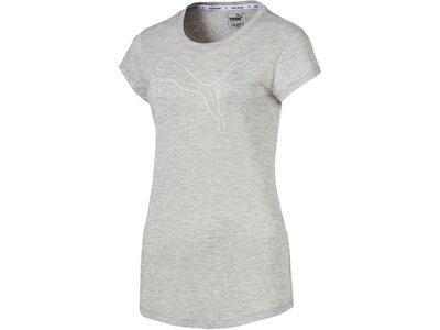 """PUMA Damen Trainingsshirt """"Active Logo Heather Tee"""" Silber"""