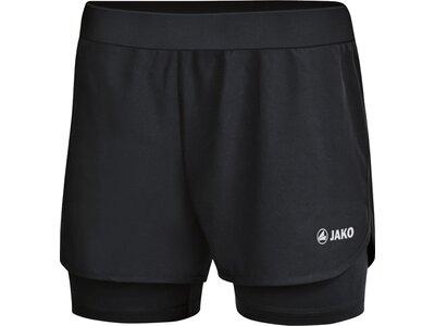 JAKO Damen 2-in-1 Short Schwarz