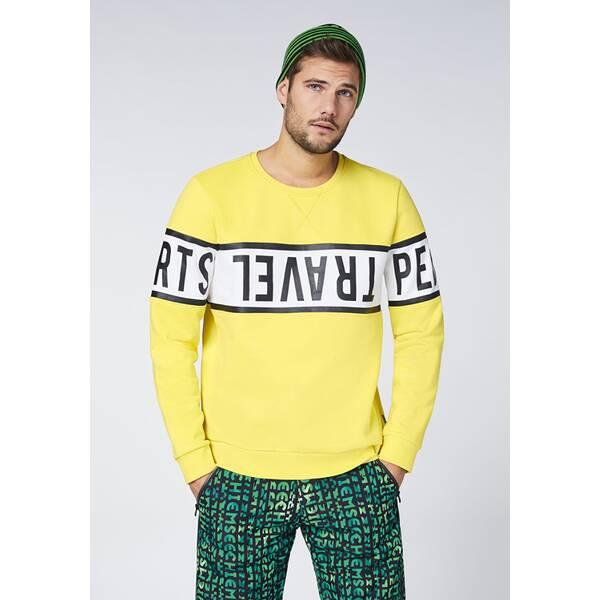 CHIEMSEE Sweatshirt mit umlaufendem CHIEMSEE Print - GOTS zertifiziert