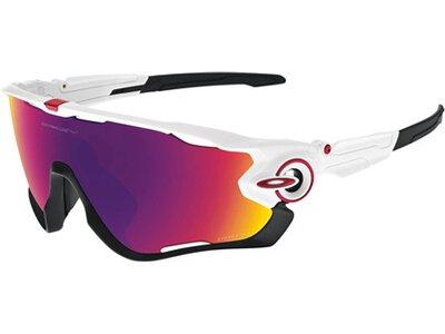 "OAKLEY Sportbrille / Sonnenbrille ""Jawbreaker"" polished white / prizm road Lila"