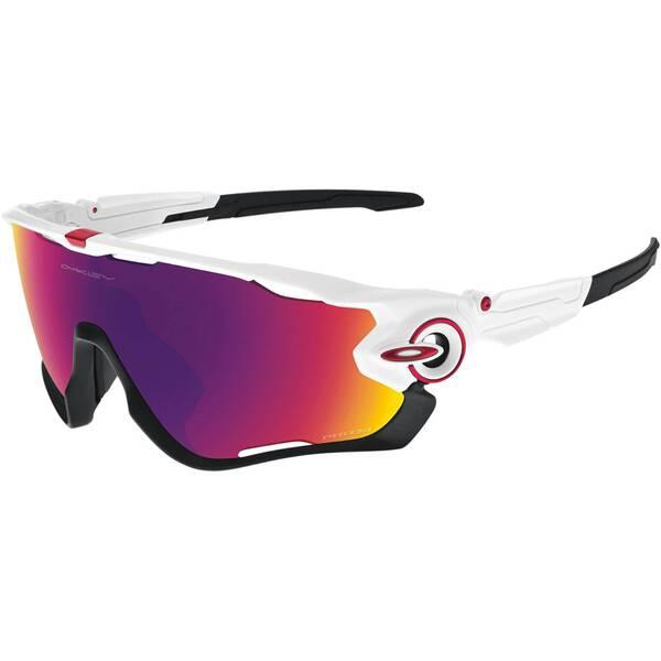 "OAKLEY Sportbrille / Sonnenbrille ""Jawbreaker"" polished white / prizm road"