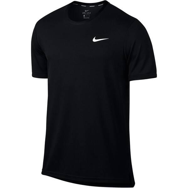 NIKE Herren Tennisshirt Kurzarm | Sportbekleidung > Sportshirts > Tennisshirts | Black - White | NIKE
