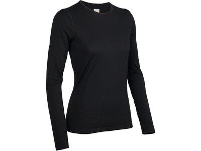 ICEBREAKER Merino Damen Funktionsshirt / Unterhemd Oasis LS Crewe Schwarz