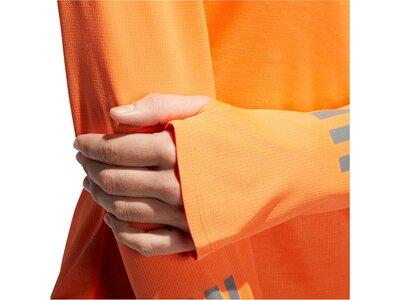 ADIDAS Damen Laufshirt Response Longsleeve Langarm Orange
