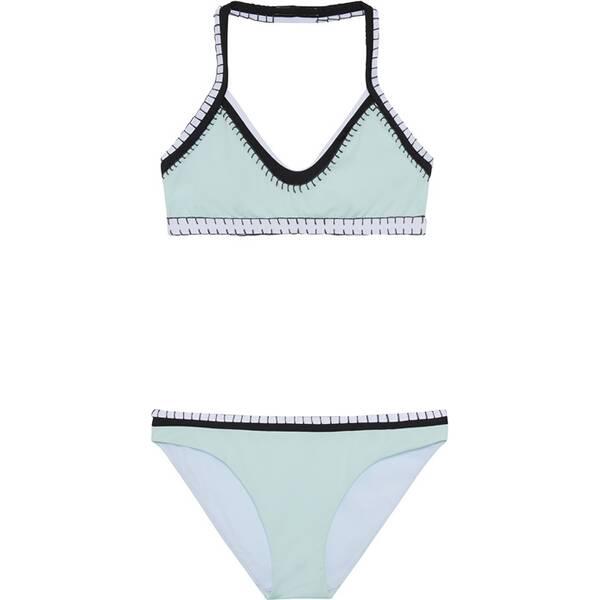 CHIEMSEE Bustier Bikini-Set einfarbig mit Häkeldetails
