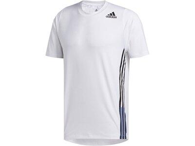 "ADIDAS Herren Trainingsshirt ""Freelift 3 Stripe Tee"" Grau"