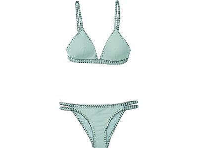 CHIEMSEE Bustier Bikini-Set einfarbig mit Kontrastnaht Blau