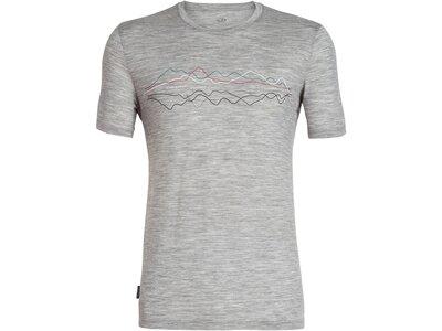 "ICEBREAKER Merino Herren T-Shirt ""Tech Lite Short Sleeve Crewe"" Silber"