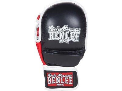 BENLEE MMA-Trainingshandschuhe aus Leder STRIKER Schwarz