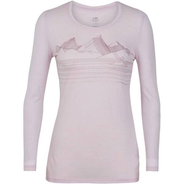 """ICEBREAKER Damen Outdoor-Shirt """"Tech Lite LS Low Crewe"""" Langarm"""