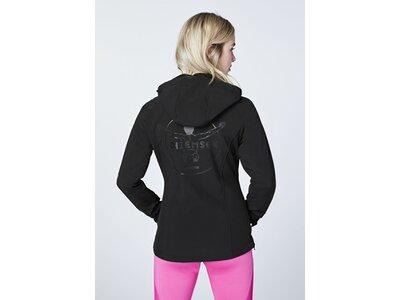 CHIEMSEE Funktionsjacke mit großen Rückenprint Schwarz