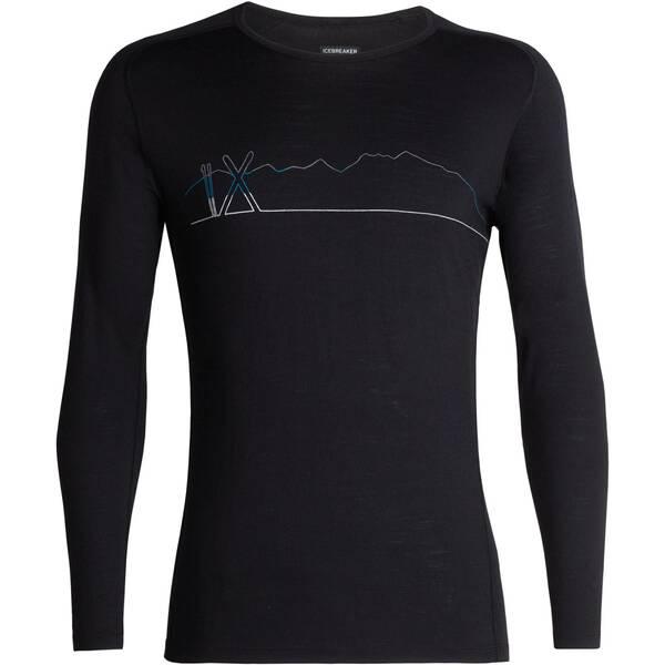 "ICEBREAKER Herren Funktionsunterhemd ""200 Oasis Deluxe Raglan Long Sleeve Crewe  Single Line Ski"" La"