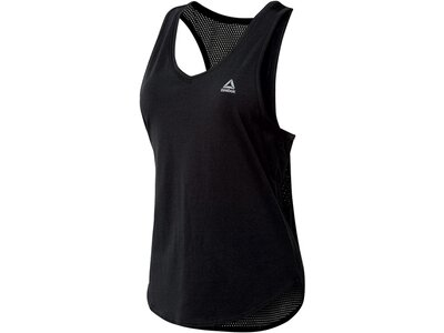 REEBOK Damen Trainings-Tanktop Workout Ready Mesh Tank Schwarz