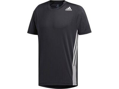 "ADIDAS Herren Trainingsshirt ""Freelift 3 Stripe Tee"" Schwarz"
