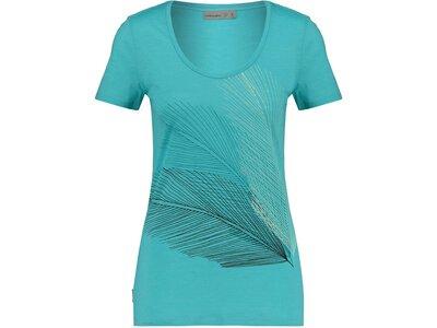 "ICEBREAKER Damen T-Shirt ""Spector SS Scoop Plume"" Blau"