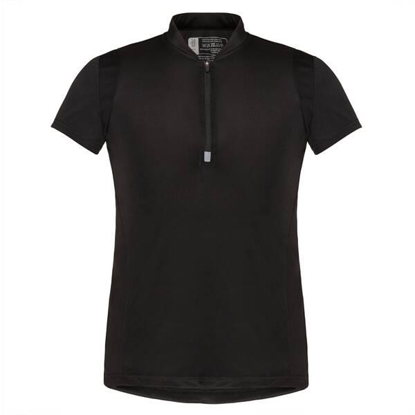 TAO Atmungsaktives kurzarm Damen Funktions T-Shirt mit Zip RANA