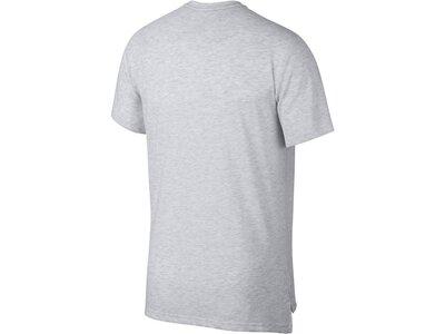 NIKE Herren Trainingsshirt Kurzarm Silber