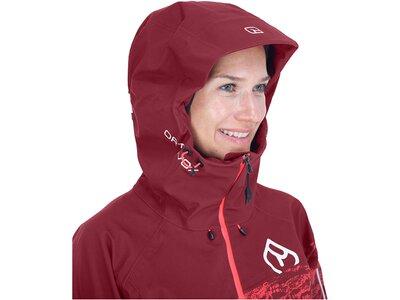"ORTOVOX Damen Trekkingjacke ""3L Guardian Shell Jacket"" Rot"