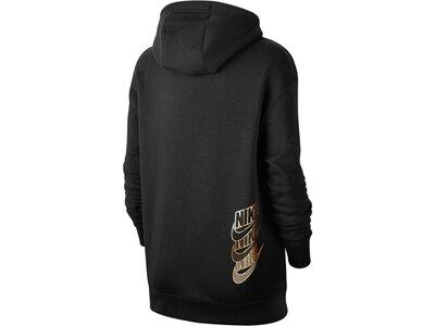 NIKE Damen Sweatshirt mit Kapuze Schwarz