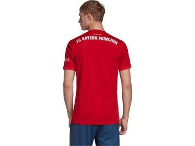 """ADIDAS Herren Fußballtrikot """"FC Bayern München Heimtrikot"""" Kurzarm - Replica Rot"""