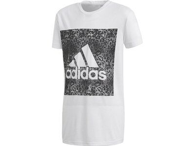 ADIDAS Kinder T-Shirt Essentials Logo in the Box Weiß