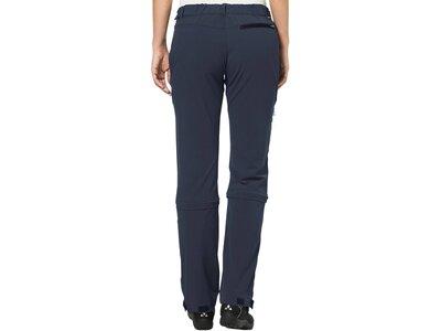 """VAUDE Damen Wanderhose / Zipp-Off-Hose """"Farley Stretch Capri T-Zip II"""" Blau"""