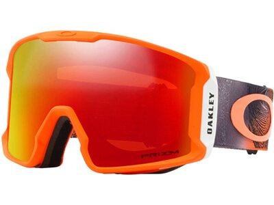 "OAKLEY Skibrille ""Line Miner - Mystic Flow Neon Orange"" Rot"