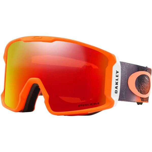 "OAKLEY Skibrille ""Line Miner - Mystic Flow Neon Orange"""