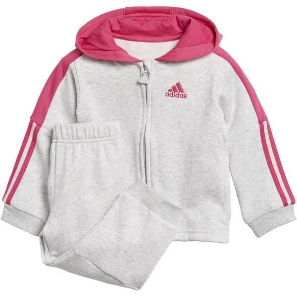 ADIDAS Kinder Logo Hooded Fleece Jogginganzug