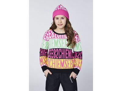 CHIEMSEE Pullover mit CHIEMSEE Alloverprint Weiß