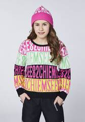 CHIEMSEE Pullover mit CHIEMSEE Alloverprint