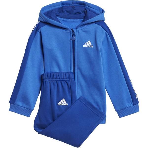 ADIDAS Kinder Linear Hooded Fleece Jogginganzug