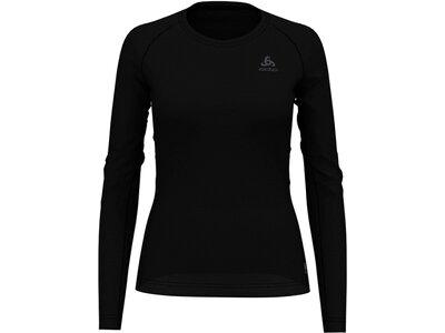 ODLO Damen Baselayer Langarm-Shirt ACTIVE F-DRY LIGHT Schwarz
