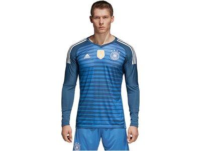 "ADIDAS Herren Fußballtrikot ""DFB Torwart-Heimtrikot 2018"" Langarm Blau"