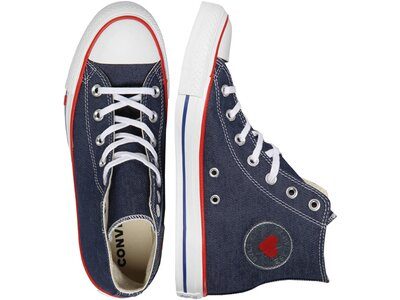 "CONVERSE Damen Sneaker ""Chuck Taylor All Star Sucker Love Denim High Top"" Blau"