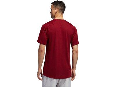ADIDAS Herren Trainingsshirt Kurzarm Rot