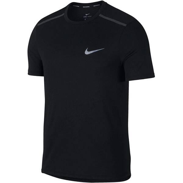 NIKE Herren Laufshirt Breathe Tailwind Kurzarm | Sportbekleidung > Sportshirts > Laufshirts | Schwarz - Weiß | Nike