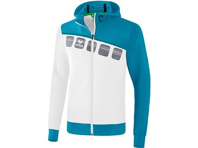 ERIMA Fußball - Teamsport Textil - Jacken 5-C Trainingsjacke mit Kapuze Kids Weiß