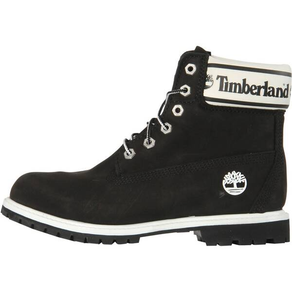 "TIMBERLAND Damen Boots ""Premium 6in Waterproof Boot Black Nubuck Logo"""