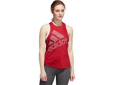 "ADIDAS Damen Fitness-Tanktop ""Badge of Sport"" Rot"