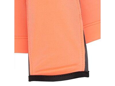 TAO Nachhaltiges Damen langarm Funktionsshirt mit Reißverschluss BLERANDA Orange
