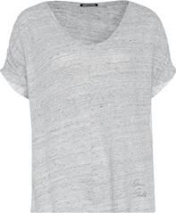 CHIEMSEE T-Shirt überschnittene Schultern aus Leinen