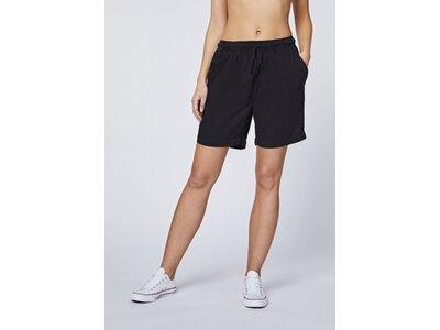 CHIEMSEE Chino-Shorts einfarbig aus leichtem Twill Schwarz
