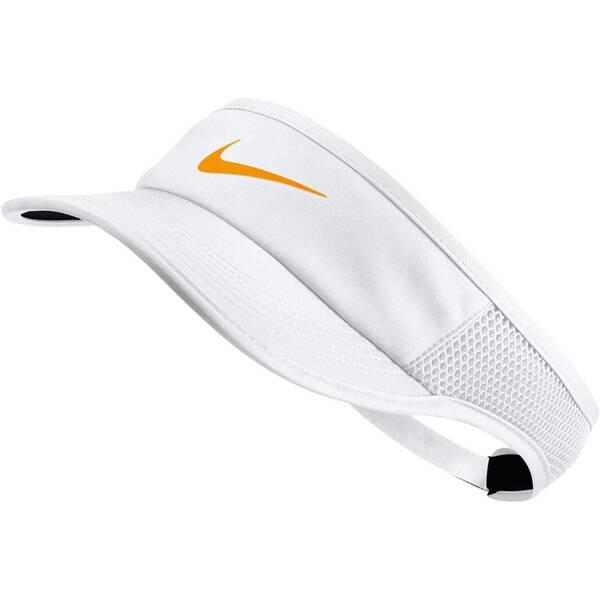 NIKE Damen Tennis Visor Aerobill | Accessoires > Caps > Visors | White - Gold | NIKE