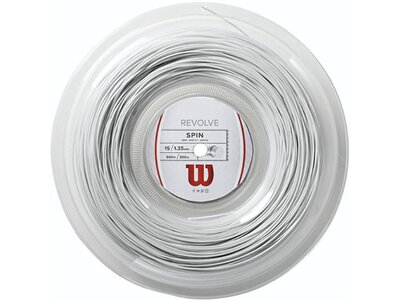 "WILSON Tennissaite ""Revolve"" 200m Rolle white Silber"
