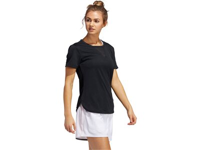 "ADIDAS Damen Trainingsshirt ""3-Stripes Heat.Rdy"" Kurzarm Schwarz"